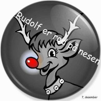 Rudolf er rød på nesen